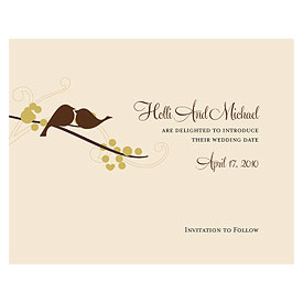 love bird wedding save the date stationery