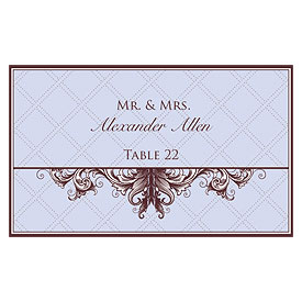 Victorian Wedding Escort Table Sign Card