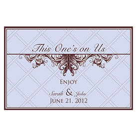 Victorian Large Wedding Drink Ticket