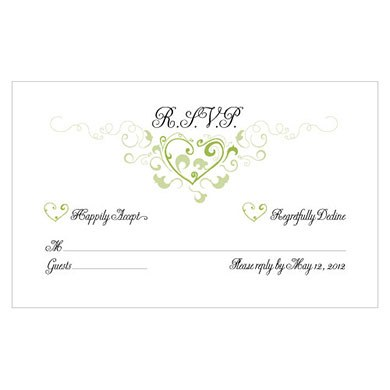 Heart Filigree Response Card