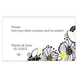 Floral Fusion Escort wedding Table Sign Card