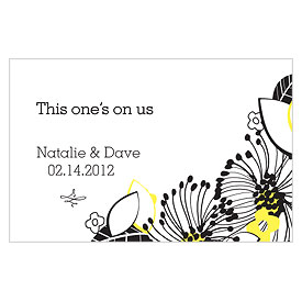 Floral Fusion Large Wedding Drink Ticket