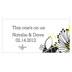Floral Fusion Small Wedding Drink Ticket