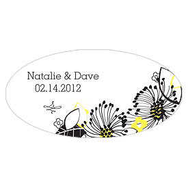 Floral Fusion Large Wedding Window Cling