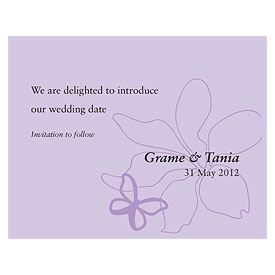 Butterfly Dreams Wedding Save The Date Card