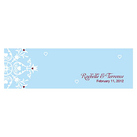 Winter Romance Small Rectangular Wedding Favor Tag