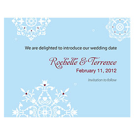 Winter Romance Wedding  Save The Date Card
