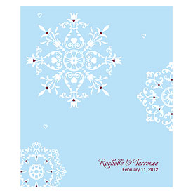Winter Romance Rectangular Wedding Label