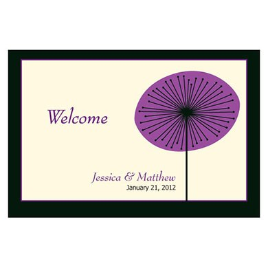 Romantic Elegance Large Rectangular Wedding Favor and Place Card Tag