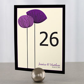 Romantic Elegance Wedding Reception Table Number