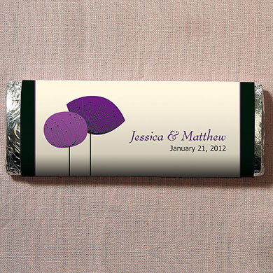 Romantic Elegance Chocolate Bar Wedding Favor