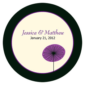Romantic Elegance Small Wedding Favor Sticker