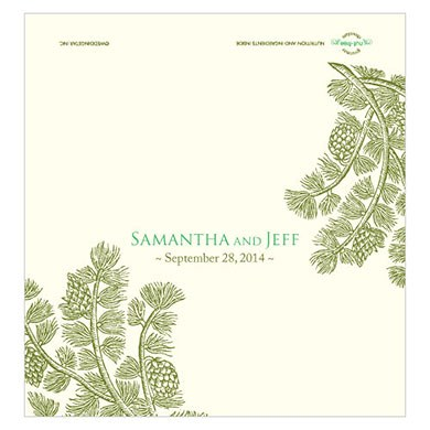 Evergreen Chocolate Bar Wedding Favor