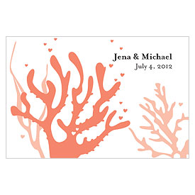 Coral Reef Large Rectangular wedding favor and gift Tag