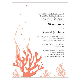 Coral Reef Wedding Invitation stationery
