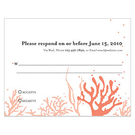 Coral Reef RSVP wedding card