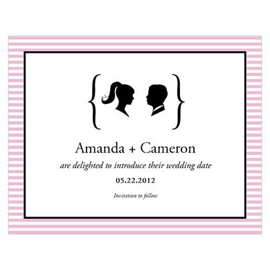 Sweet Silhouettes Wedding Save The Date Card