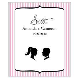 Sweet Silhouettes Rectangular Wedding Favor Label