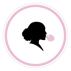 Sweet Silhouettes Large Wedding Favor Sticker