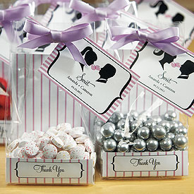 Sweet Silhouettes Cellophane Wedding Favor Bag Insert