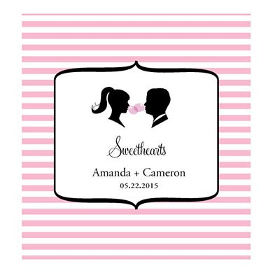 Sweet Silhouette Personalized Wedding Candy Roll Wrap