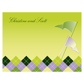 Golf Wedding Note Cards