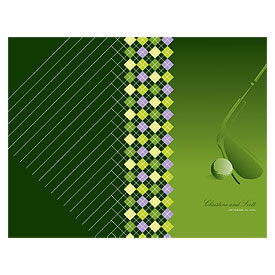 Golf wedding stationery Bulletin