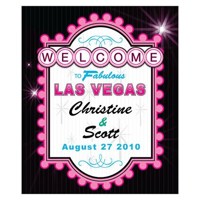 Las Vegas Rectangular Wedding Labels