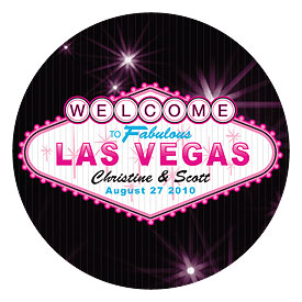 Las Vegas Large Wedding Favor Stickers