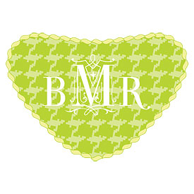 Knitted Heart Container Favor Sticker