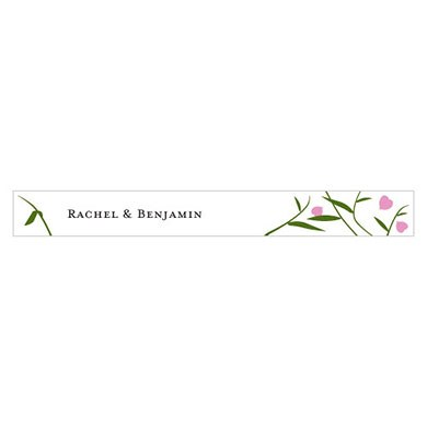Floral Fan Wedding Accessory Sticker