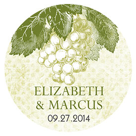 A Wine Romance Wedding Small Sticker