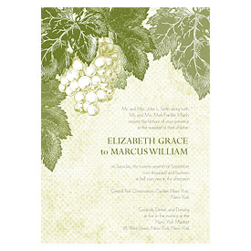 A Wine Romance Wedding Invitation