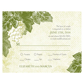 A Wine Romance Wedding RSVP