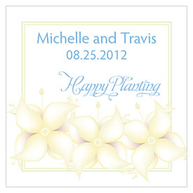 Happy Planting Wedding Stationery Card tag