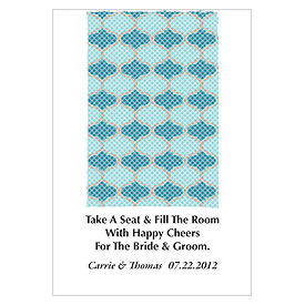 Rug Wedding Favor Card