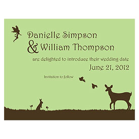 Fairytale Charm Wedding Save The Date Card