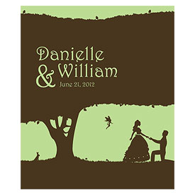 Fairytale Charm Rectangular Wedding Container Label