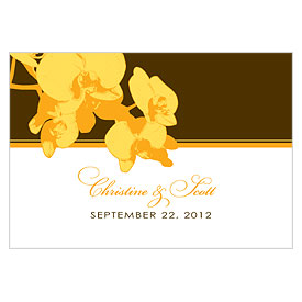 Orchid Glamour Large Rectangular Wedding Favor and Place Card Tag