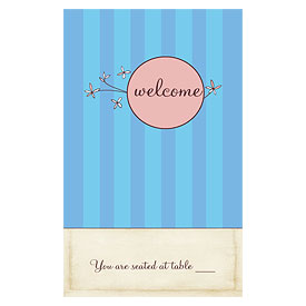 Whimsical Garden Wedding Reception Escort Table Sign Card