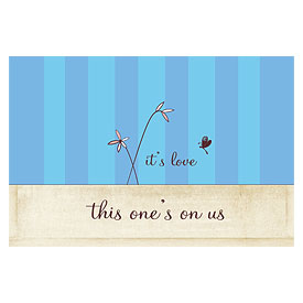 Whimsical Garden Large Wedding Drink Ticket