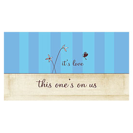 Whimsical Garden Small Wedding Drink Ticket