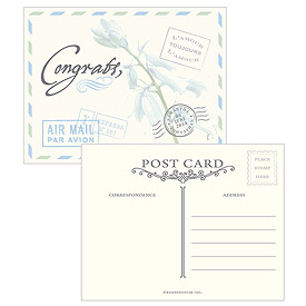 Garden Well Wishing Vintage Mailbox Wedding Postcards