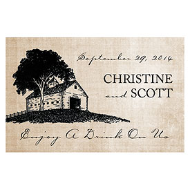 Rustic Country Wedding Large Ticket