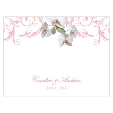 Classic Orchid Wedding Note Card