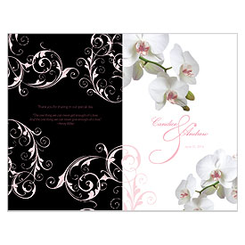 Classic Orchid Wedding Bulletin