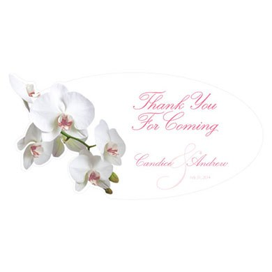 Classic Orchid Small Wedding Clings