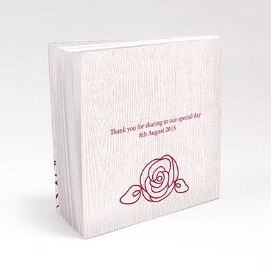 Rose Personalized Book Style Wedding Favor Notepad