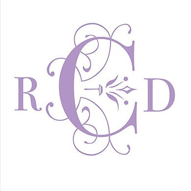 Classic Deco Monogram Personalized Wedding Photo Booth Backdrop