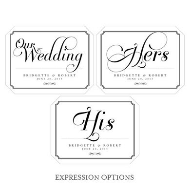 Expressions Wedding Small Cling